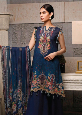 Malhar Printed Lawn Unstitched 3 Piece Suit ML20B B80-B - Summer Collection