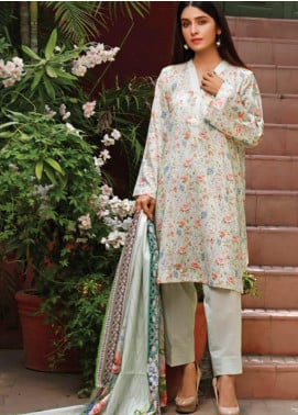 Malhar Printed Lawn Unstitched 3 Piece Suit ML20D 225-A - Spring / Summer Collection