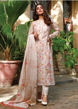 Malhar Printed Lawn Unstitched 3 Piece Suit ML20D 241-B - Spring / Summer Collection