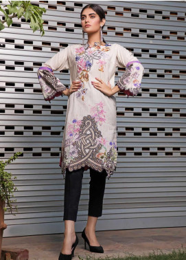 Malhar Florence Embroidered Lawn Unstitched Kurties MLF19K 01 - Mid Summer Collection