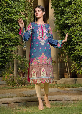 Malhar Florence Embroidered Lawn Unstitched Kurties MLF19K 07 - Mid Summer Collection
