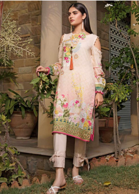 Malhar Florence Embroidered Lawn Unstitched Kurties MLF19K 08 - Mid Summer Collection