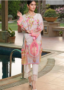 Malhar Florence Embroidered Lawn Unstitched Kurties MLF19K 09 - Mid Summer Collection
