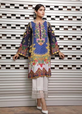 Malhar Florence Embroidered Lawn Unstitched Kurties MLF19K 10 - Mid Summer Collection
