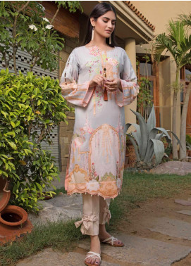 Malhar Florence Embroidered Lawn Unstitched Kurties MLF19K 11 - Mid Summer Collection