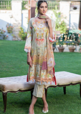 Malhar Embroidered Lawn Unstitched 3 Piece Suit ML19EL 04 - Mid Summer Collection