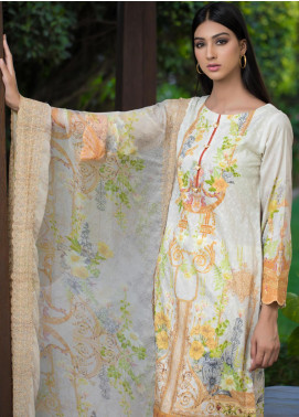 Malhar Embroidered Schiffli Unstitched 3 Piece Suit ML19SC 02 - Spring / Summer Collection