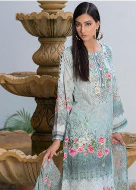 Malhar Embroidered Schiffli Unstitched 3 Piece Suit ML19SC 05 - Spring / Summer Collection