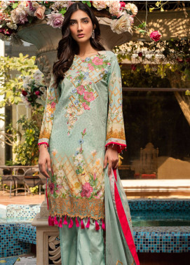 Malhar Embroidered Lawn Unstitched 3 Piece Suit ML19L 02 SKY DEW - Spring / Summer Collection