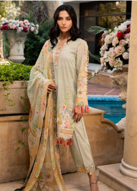 Malhar Embroidered Lawn Unstitched 3 Piece Suit ML19L 05 DAFFODIL HUE - Spring / Summer Collection