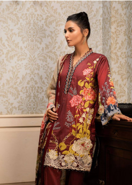 Malhar Embroidered Lawn Unstitched 3 Piece Suit ML19L 13 FLORAL JEWELS - Spring / Summer Collection
