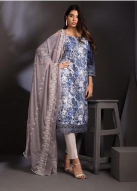 ZS Textile Embroidered Schiffli Unstitched 3 Piece Suit ZS20M  04 - Luxury Collection
