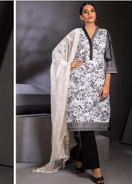 ZS Textile Embroidered Schiffli Unstitched 3 Piece Suit ZS20M  10 - Luxury Collection