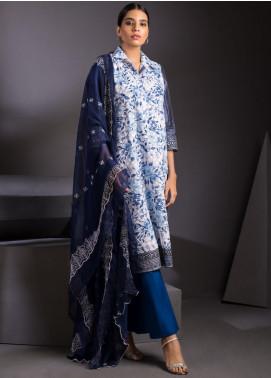 ZS Textile Embroidered Schiffli Unstitched 3 Piece Suit ZS20M  11 - Luxury Collection