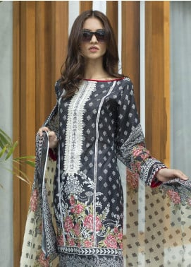 Malkah by ZS Textile Embroidered Lawn Unstitched 3 Piece Suit MLK19F 04 - Festive Collection