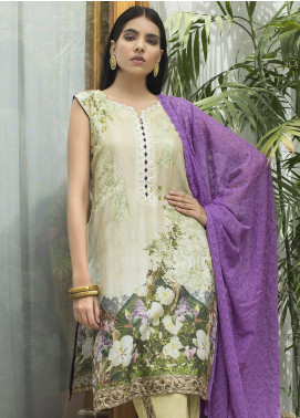 Malkah by ZS Textile Embroidered Lawn Unstitched 3 Piece Suit MLK19F 05 - Festive Collection