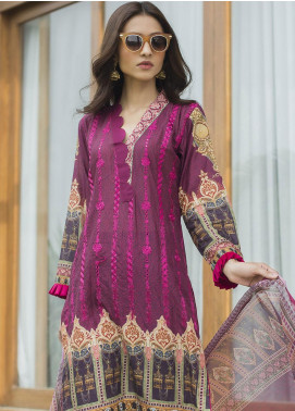 Malkah by ZS Textile Embroidered Lawn Unstitched 3 Piece Suit MLK19F 06 - Festive Collection