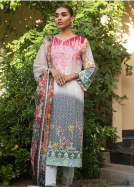 Malkah by ZS Textile Embroidered Lawn Unstitched 3 Piece Suit MLK19MS 11 - Mid Summer Collection