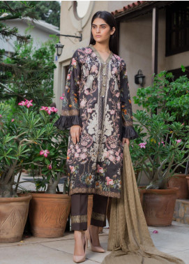 Malkah by ZS Textile Embroidered Lawn Unstitched 3 Piece Suit MLK19MS 13 - Mid Summer Collection