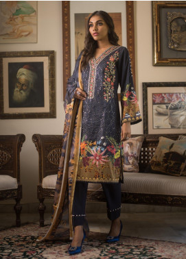 Malkah by ZS Textile Embroidered Lawn Unstitched 3 Piece Suit MLK19MS 2 - Mid Summer Collection