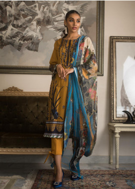 Malkah by ZS Textile Embroidered Lawn Unstitched 3 Piece Suit MLK19MS 4 - Mid Summer Collection