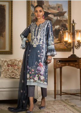 Malkah by ZS Textile Embroidered Lawn Unstitched 3 Piece Suit MLK19MS 5 - Mid Summer Collection