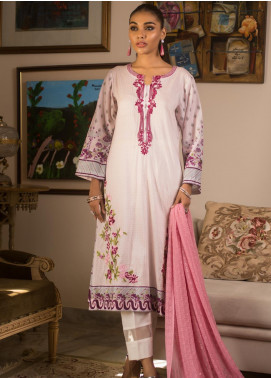 Malkah by ZS Textile Embroidered Lawn Unstitched 3 Piece Suit MLK19MS 6 - Mid Summer Collection