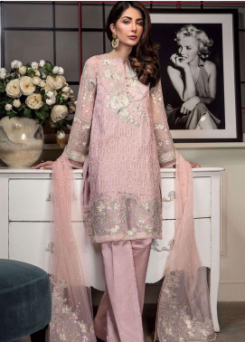 Manara Embroidered Chiffon Unstitched 3 Piece Suit MNA19C 002 FLORA - Eid Collection