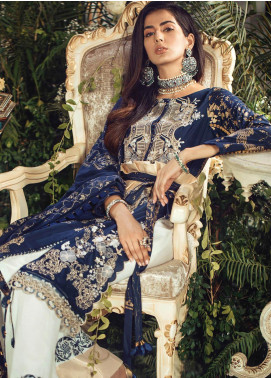 Manara Embroidered Lawn Unstitched 3 Piece Suit MNA19F 01 MEGARA - Festive Collection