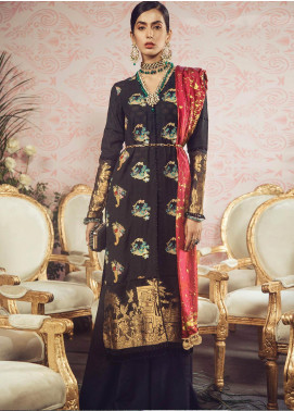 Manara Embroidered Jacquard Unstitched 3 Piece Suit MNA19F 04 NAZARE - Festive Collection