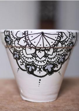 Mandala Art by K Antique  Pot  MNA20 M-7 - Home & Decor Art Collection