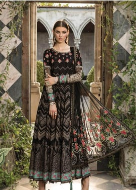 Maria B Embroidered Lawn Unstitched 3 Piece Suit MBE19L 609 - Eid Collection