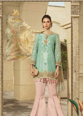 Maria B Embroidered Lawn Unstitched 3 Piece Suit MB19L 02A - Spring / Summer Collection