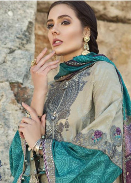 Maria B Embroidered Lawn Unstitched 3 Piece Suit MB19L 03B - Spring / Summer Collection