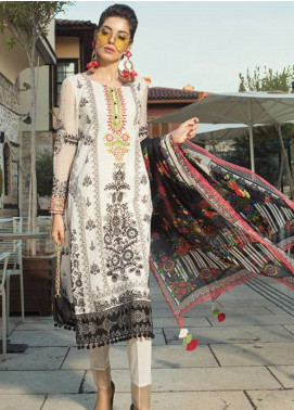 Maria B Embroidered Lawn Unstitched 3 Piece Suit MB19L 05B - Spring / Summer Collection