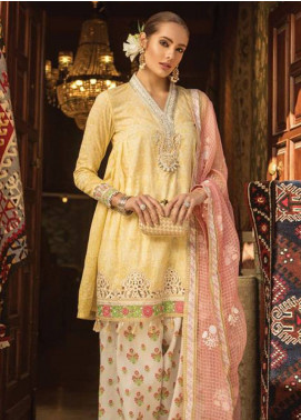 Maria B Embroidered Lawn Unstitched 3 Piece Suit MB19L 07B - Spring / Summer Collection