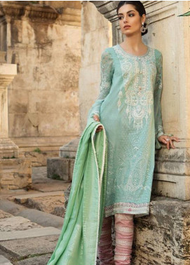 Maria B Embroidered Lawn Unstitched 3 Piece Suit MB19L 09B - Spring / Summer Collection