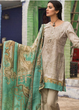 Maria B M.Prints Embroidered Lawn Unstitched 3 Piece Suit MBP19L 12B - Spring / Summer Collection