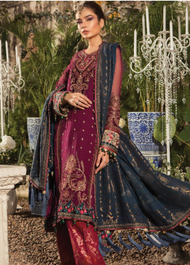 Maria B Embroidered Chiffon Unstitched 3 Piece Suit MB19E 1605 - Eid Collection