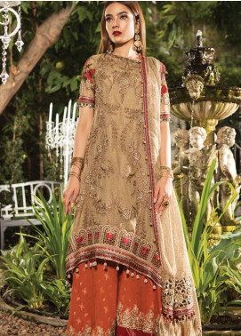 Maria B Embroidered Zari Net Unstitched 3 Piece Suit MB19E 1606 - Eid Collection