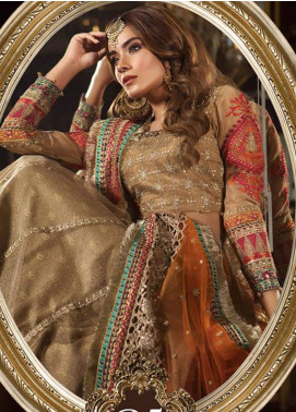 Maria B Embroidered Zari Net Unstitched 3 Piece Suit MB18-W1 05 - Wedding Collection