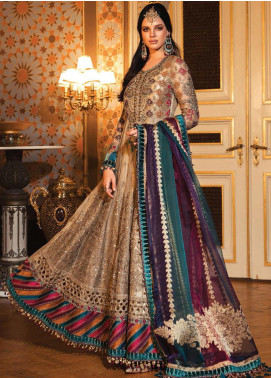 Maria B Embroidered Zari Net Unstitched 3 Piece Suit MB20WD 02 - Wedding Collection