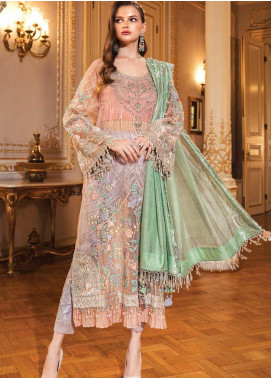 Maria B Embroidered Organza Unstitched 3 Piece Suit MB20WD 03 - Wedding Collection