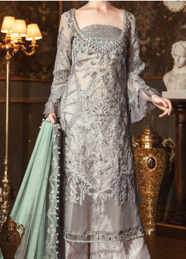 Maria B Embroidered Zari Net Unstitched 3 Piece Suit MB20WD 05 - Wedding Collection