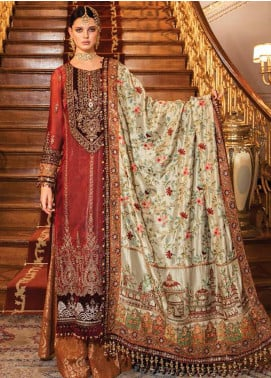 Maria B Embroidered Cotton Net Unstitched 3 Piece Suit MB20WD 06 - Wedding Collection
