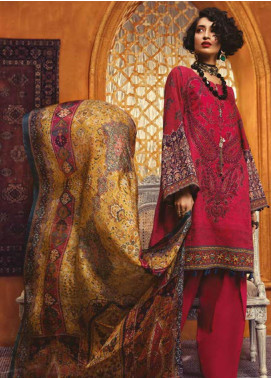 Maria B Embroidered Khaddar Unstitched 3 Piece Suit MBP19WE 7012 A - Winter Collection