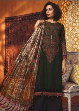 Maria B Embroidered Khaddar Unstitched 3 Piece Suit MBP19WE 7012 B - Winter Collection