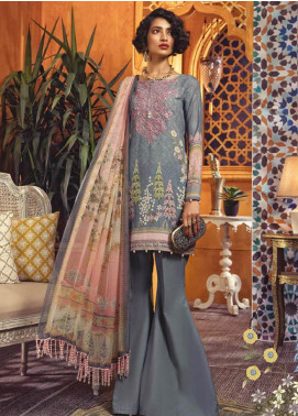 Maria B Embroidered Karandi Unstitched 2 Piece Suit MBP19WE 705 B - Winter Collection