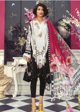 Maria B Embroidered Linen Unstitched 2 Piece Suit MBP19WE 706 A - Winter Collection