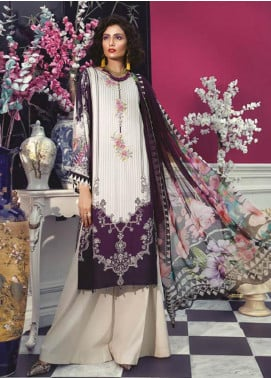 Maria B Embroidered Linen Unstitched 2 Piece Suit MBP19WE 706 B - Winter Collection